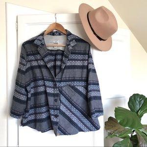 Rare Woolrich 100% Org Cotton Boho Hippy Button Up